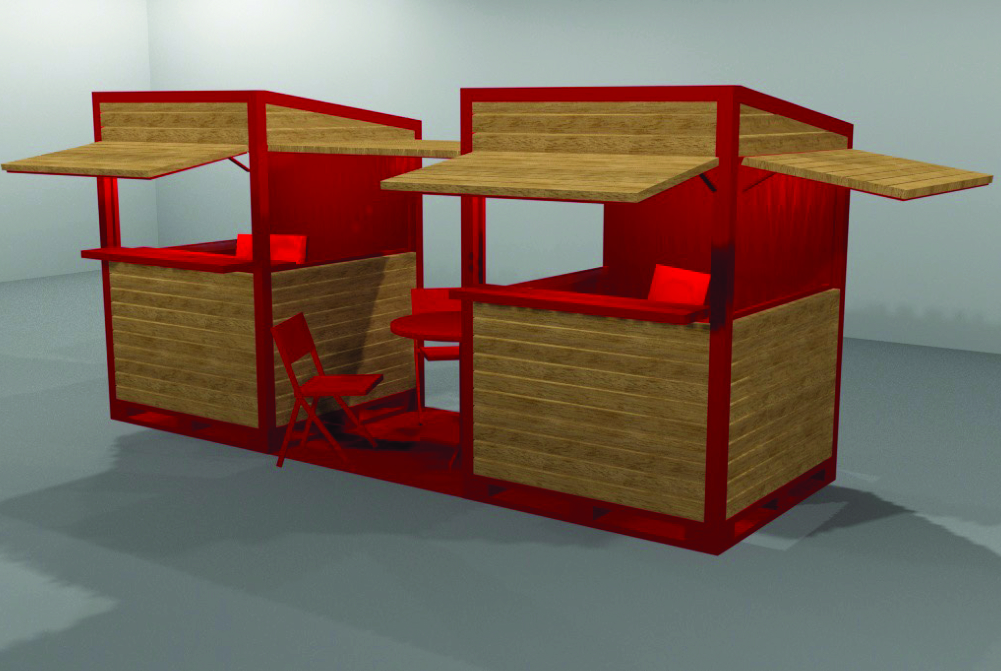 cm stand 3D render 6